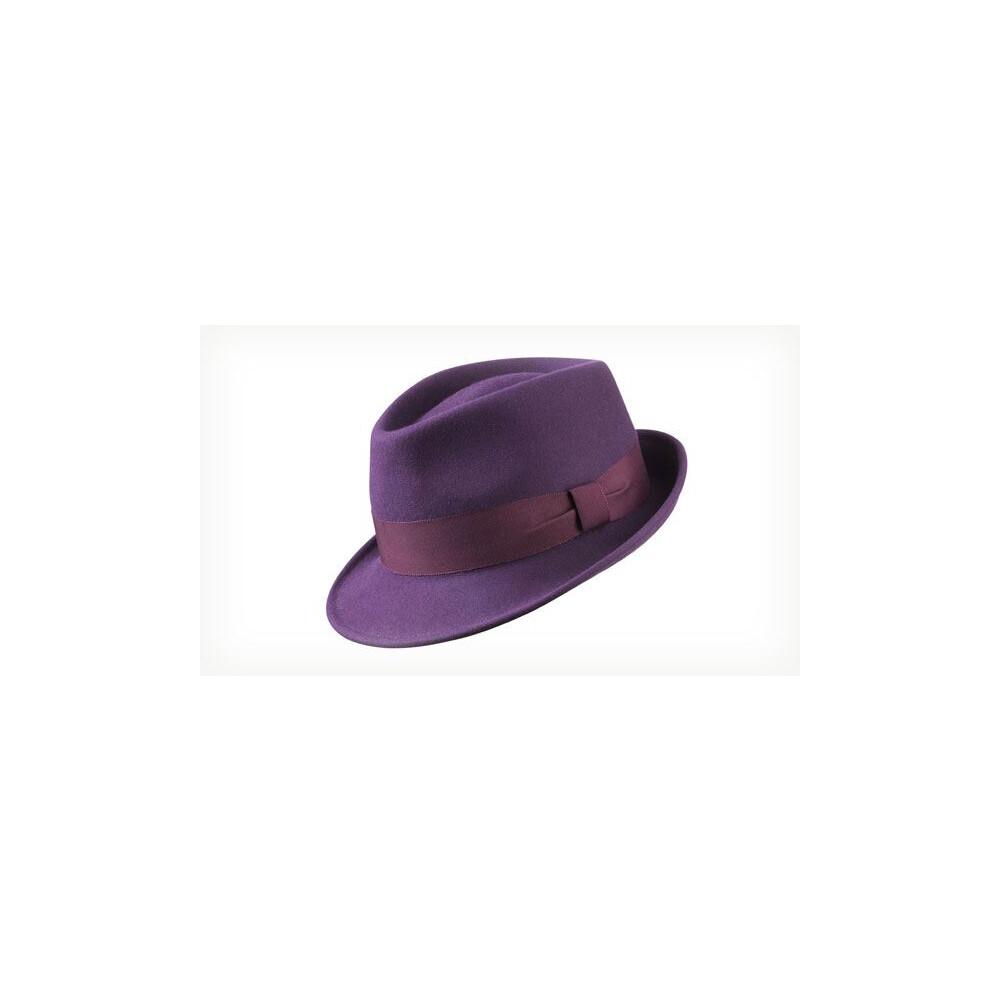 Olney Olney Lola Trilby Hat - Aubergine