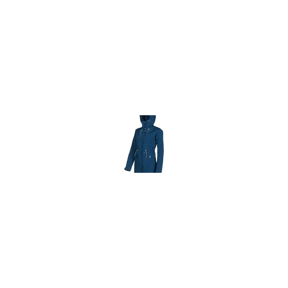 Baleno Tess Ladies Long Rain Jacket French Navy