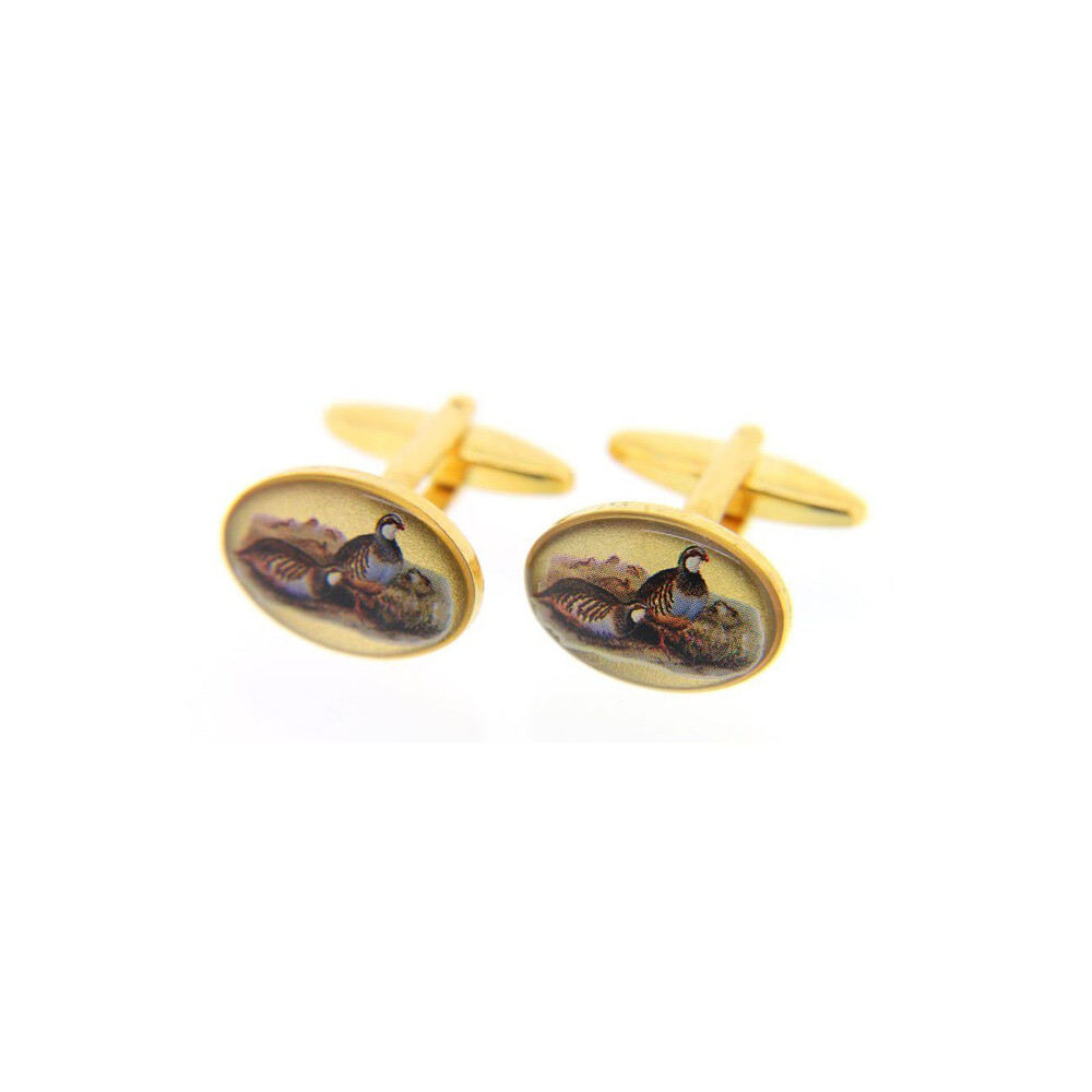 Soprano Country Cufflinks - Red Legged Partridge
