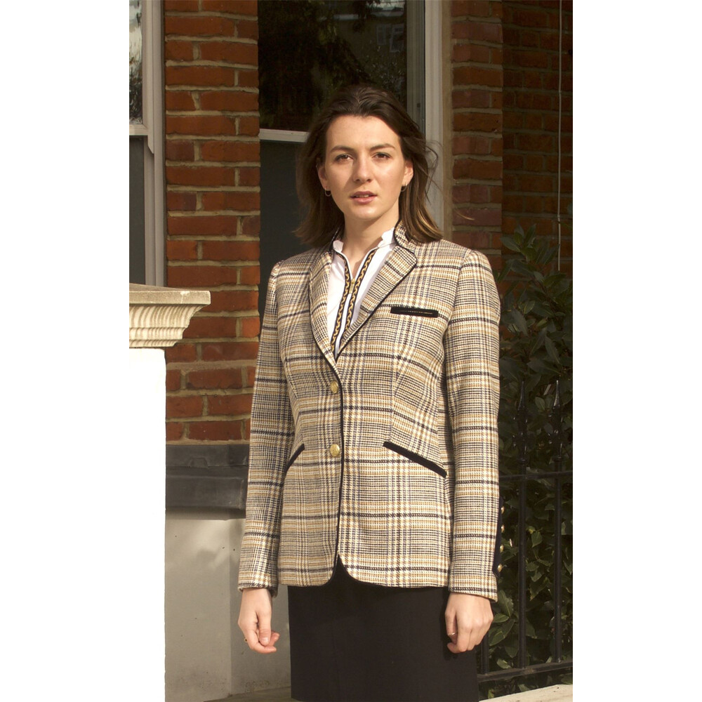 Welligogs Burghley Tailored Jacket Cream/Blue