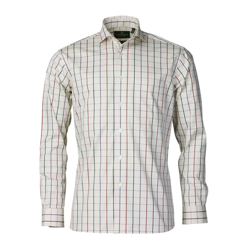 Laksen Hew Twill Shirt - Purple/Chilli/Storm Sky