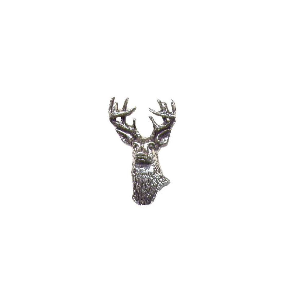 John Rothery Pewter Pin Badge - Deer Unknown