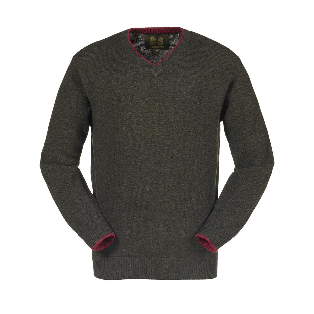 Musto Shooting V-Neck Knit - Vineyard