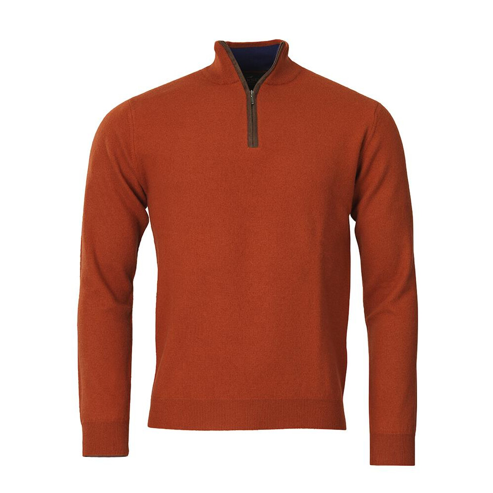 Laksen Grouse 19 Zip Neck Knit - Oxide Oxide
