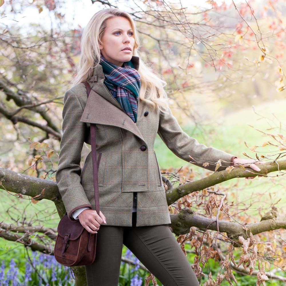 Dubarry Willow Tweed Jacket - Acorn Green