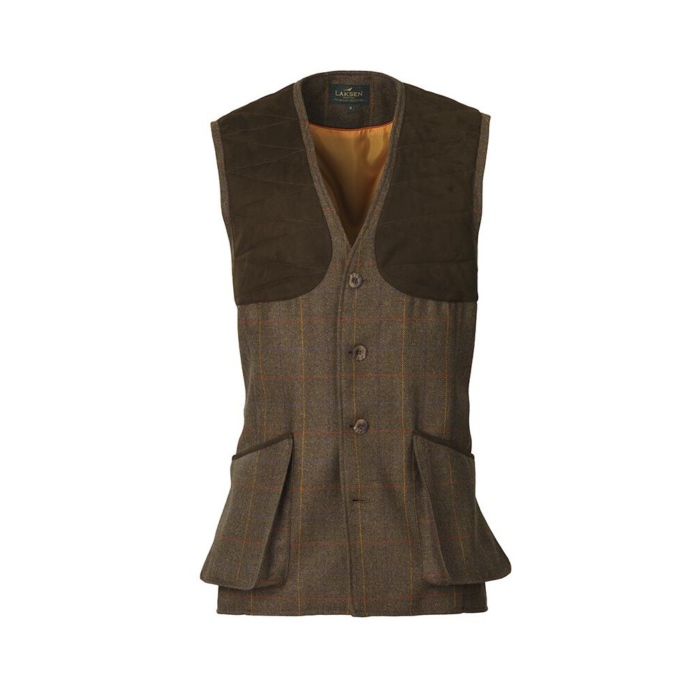 Laksen Grouse 19 Tweed Shooting Vest Brown