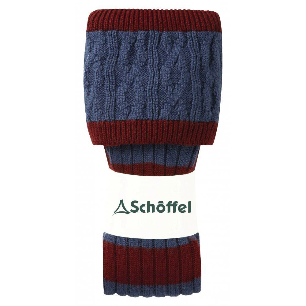 Schoffel Schoffel Sutton Striped Socks - Claret/Blue