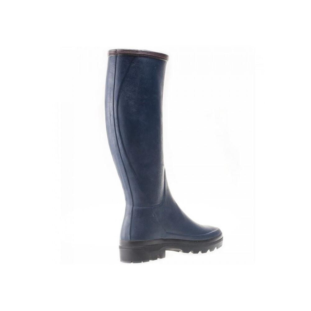 Le Chameau Giverny Ladies Wellington Boots - Blue Blue