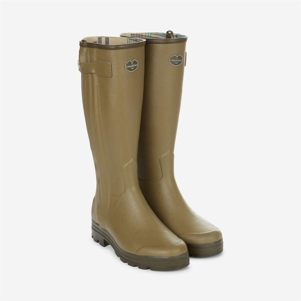 Le Chameau Chasseur Jersey Wellington Boots - Light Green