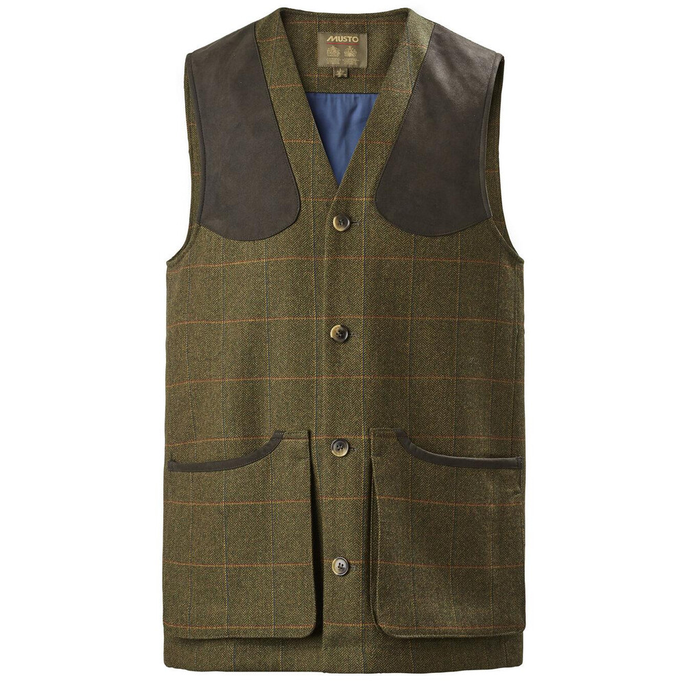 Musto Light Machine Washable Tweed Waistcoat