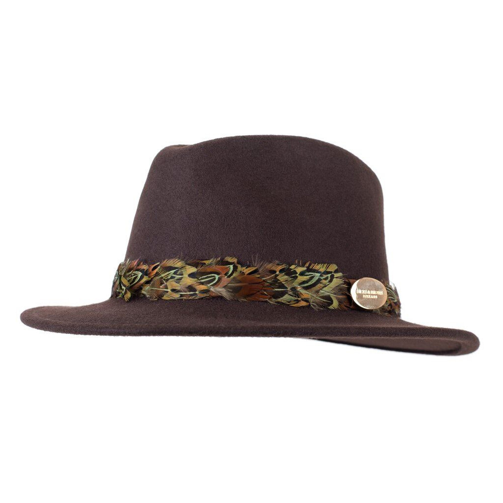 Hicks & Brown Hicks &  Suffolk Fedora Hat with Pheasant Feather Wrap