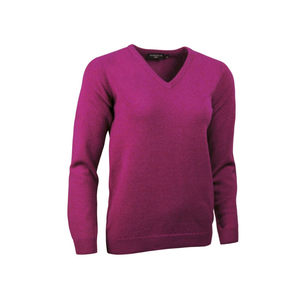 Glenmuir Nina Ladies V-Neck Lambswool Jumper - Tahiti Tahiti