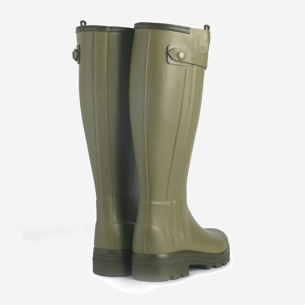 Le Chameau Chasseur Ladies Leather Lined Wellingtons Light Green