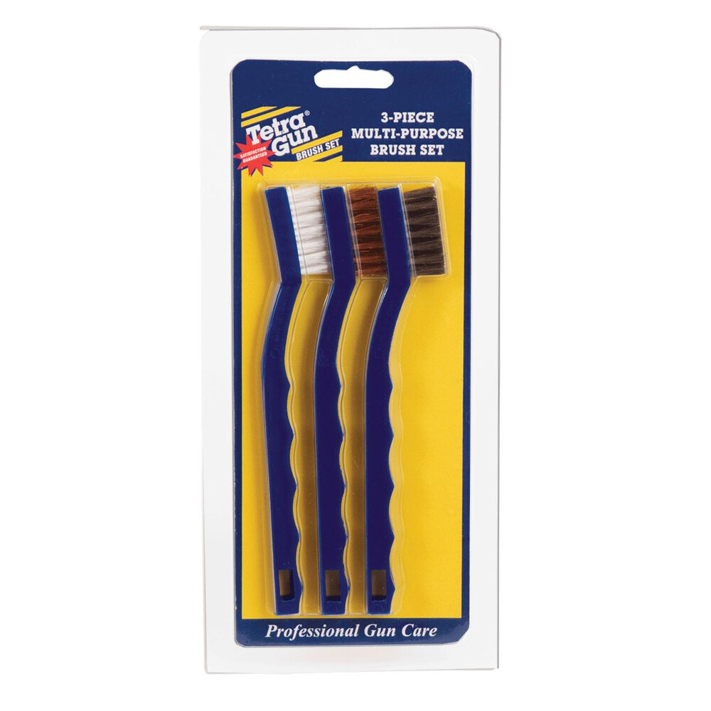 Tetra Gun 3-Piece Multi-Purpose Brush Set Blue/Yellow
