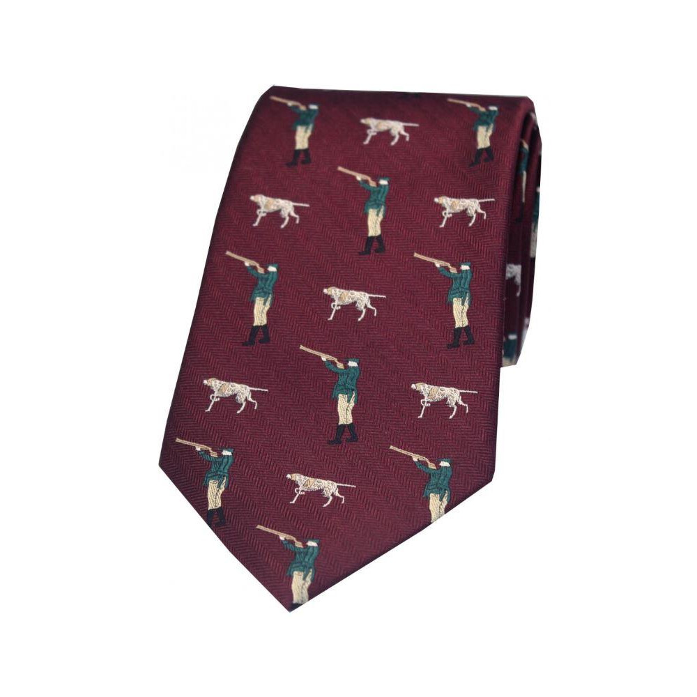 Soprano Country Silk Tie - Hunter and Pointer - Wine