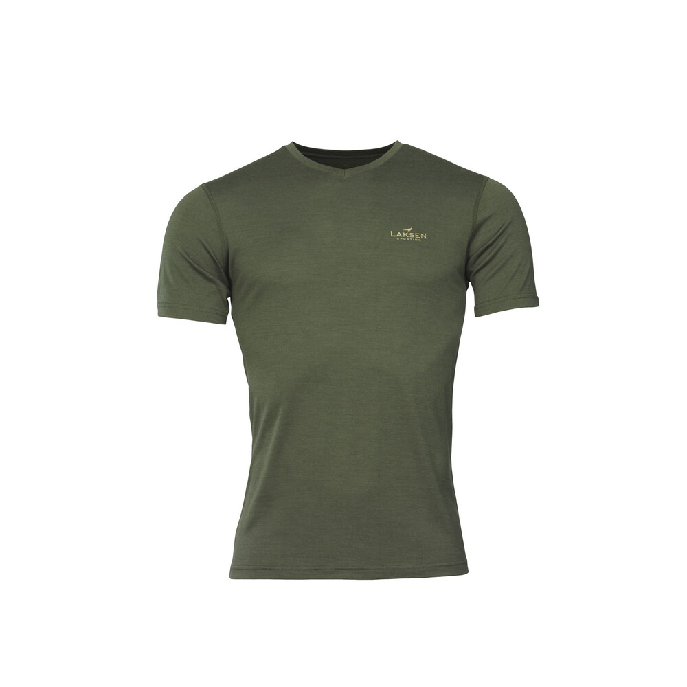 Laksen Lomond Thermal V-Neck T-Shirt - Olive Green