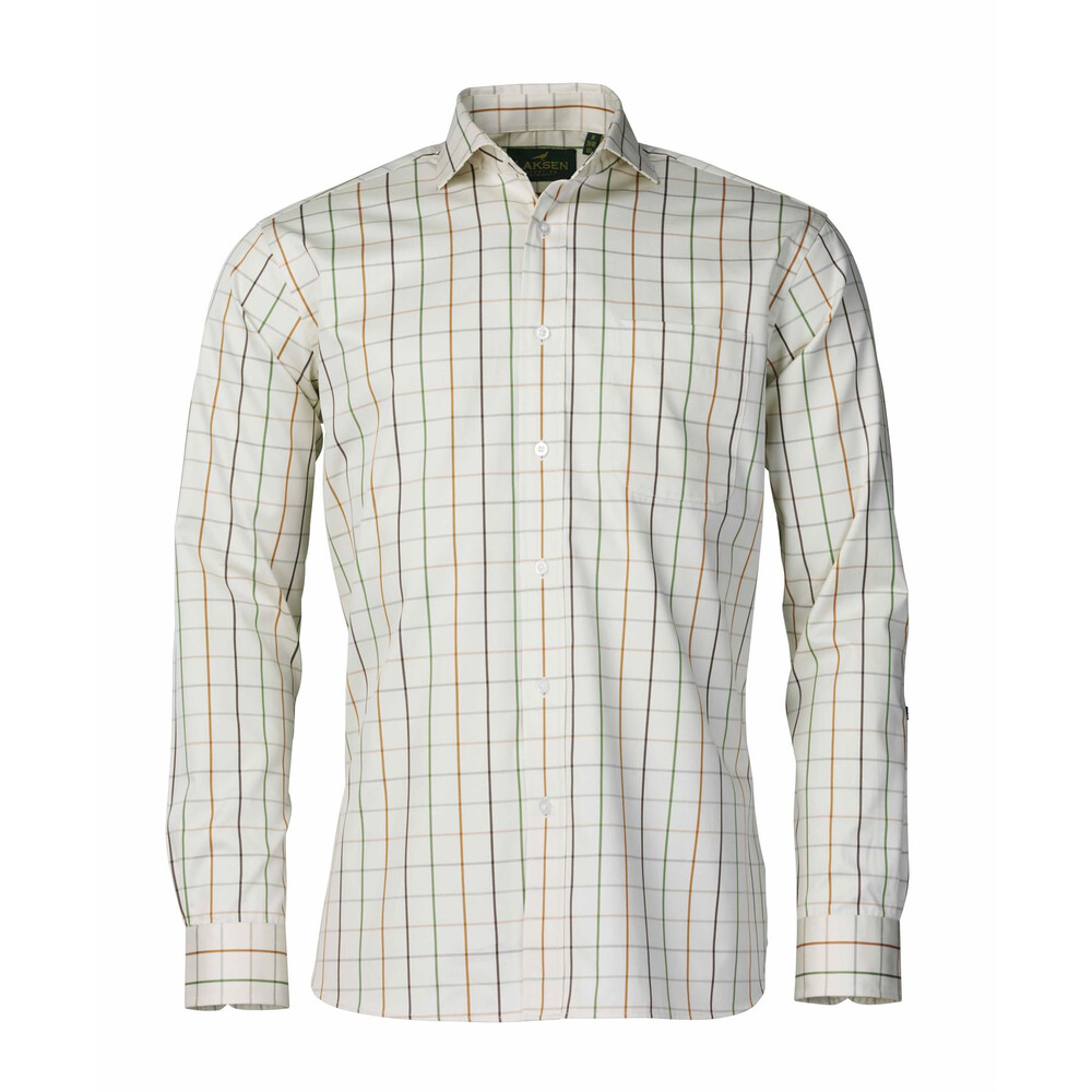 Laksen Gilroy Twill Shirt - Bark/Chilli/Green
