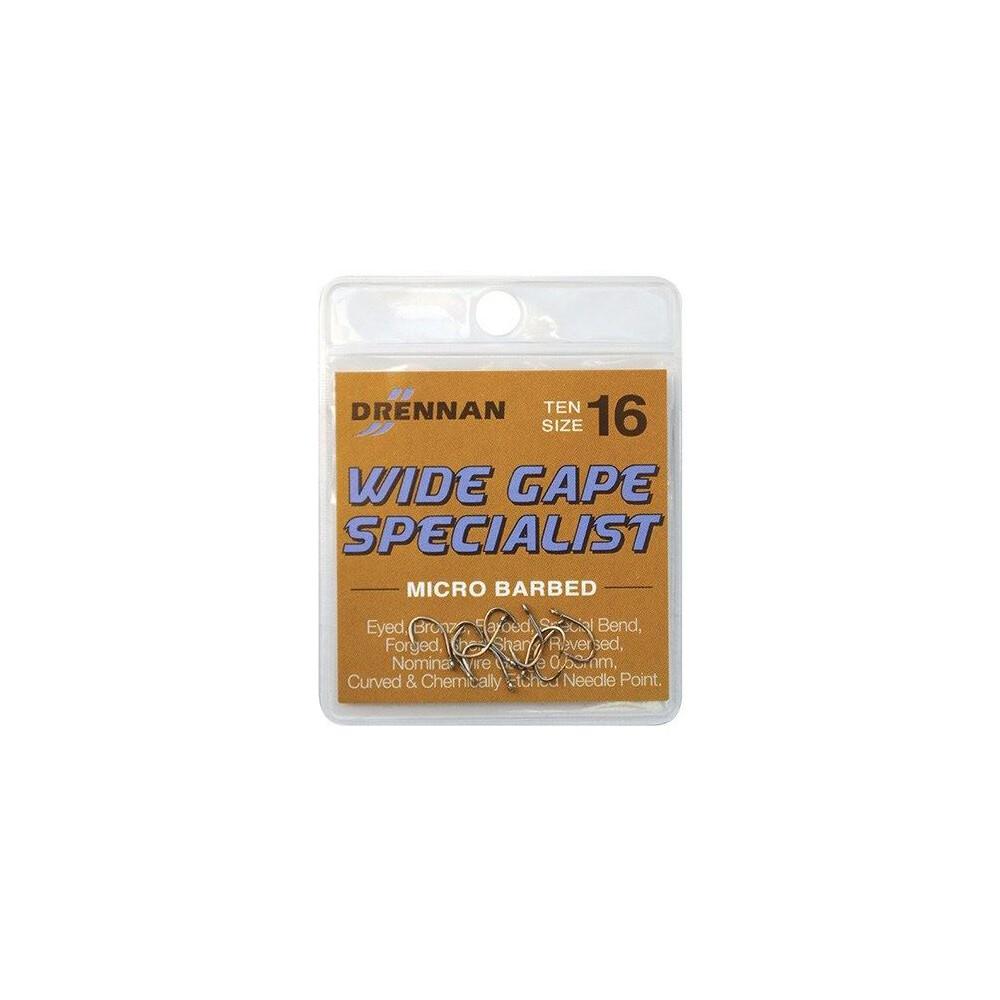Drennan Wide Gape Specialist Hooks - Barbed