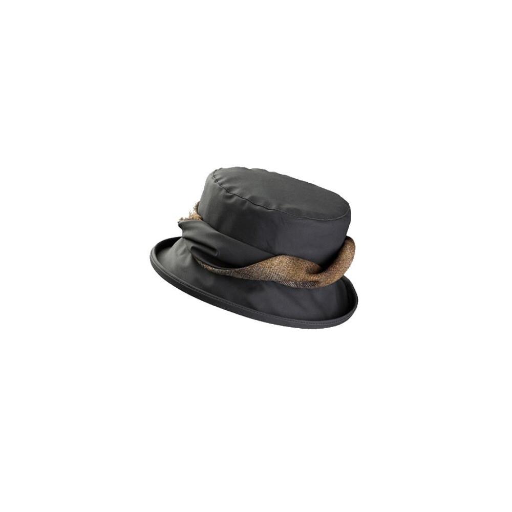 Olney Olney Emma Wax & Twist Hat - Charcoal