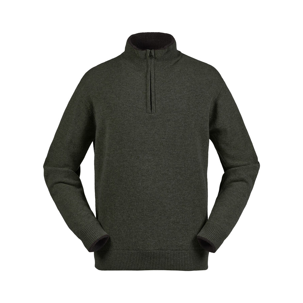 Musto Shooting Zip Neck Knit - Vineyard