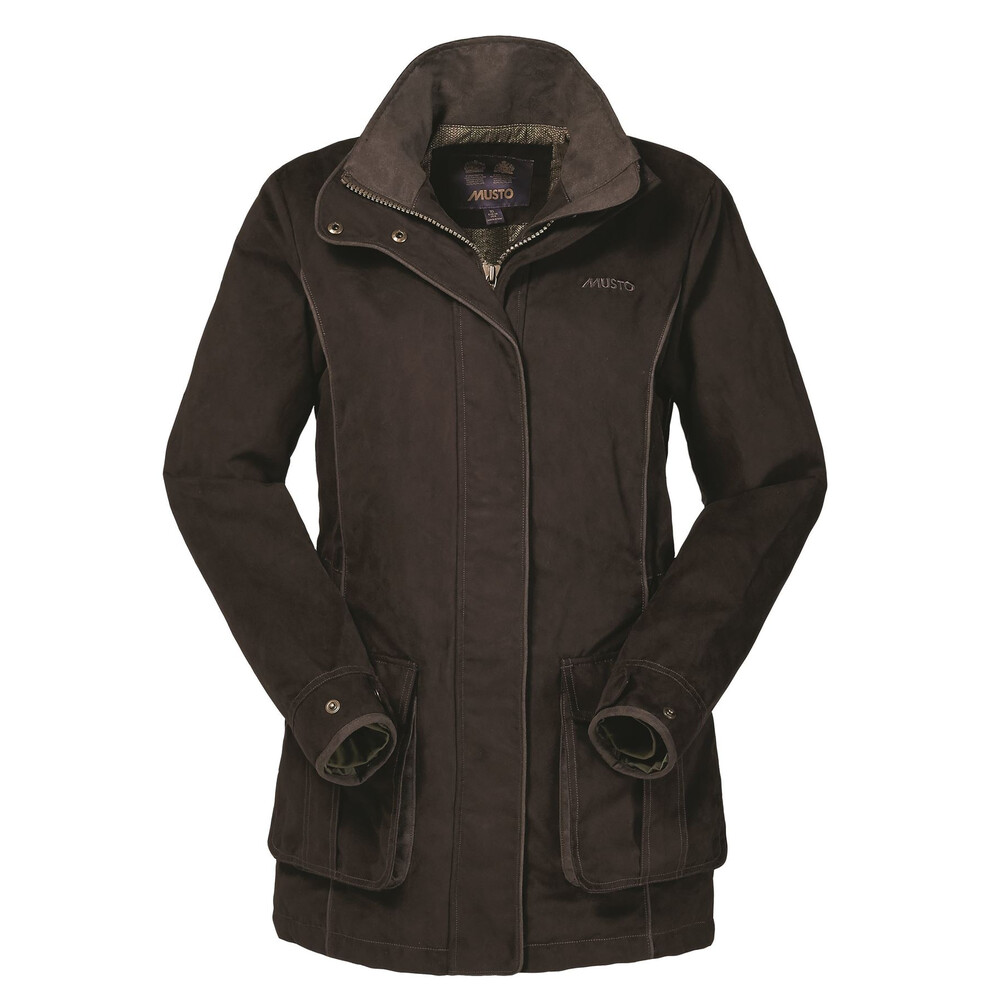 Musto Women's Whisper GORE-TEX PrimaLoft Jacket - Dark Moss Brown