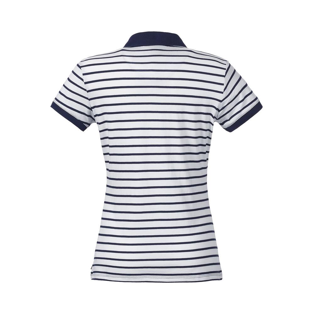 Musto Elle Stripe Polo Shirt - White/Peacoat Multi