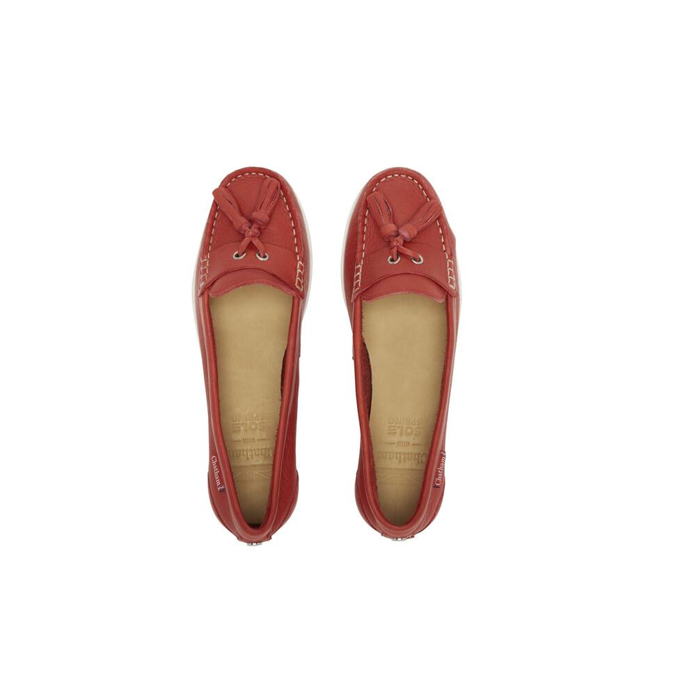 Chatham Arora Suede Tassel Loafer Red