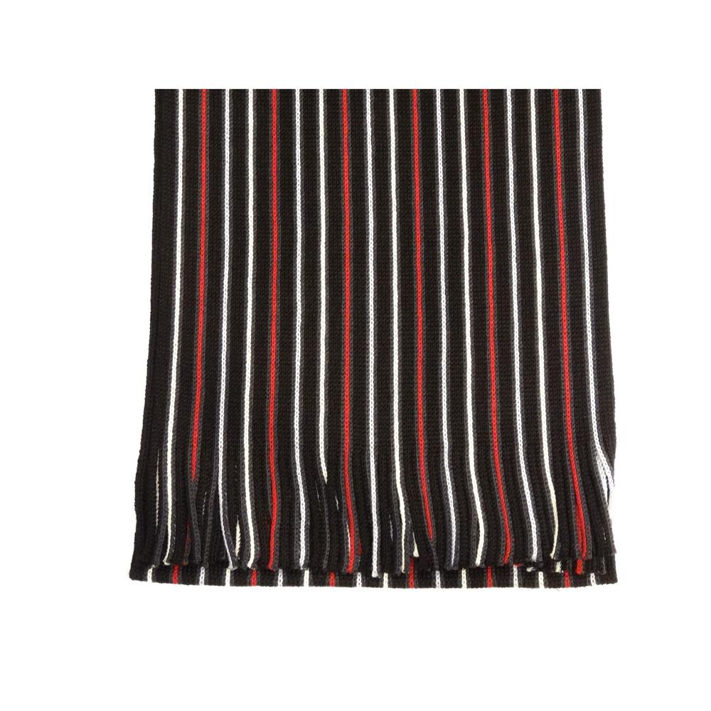 Hugo Spiecker Mens 100% Wool Scarf - Black/Red