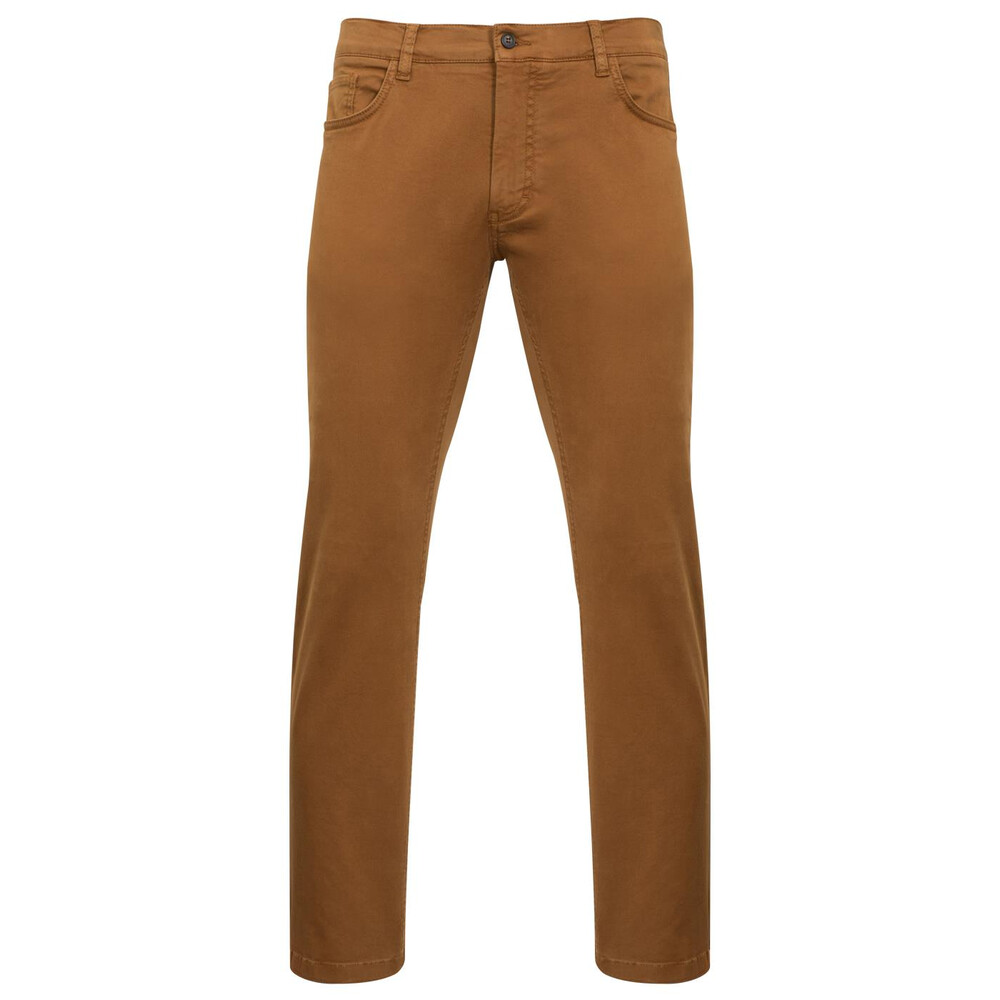 Alan Paine Alan Paine Cheltham 5 Pocket Chino Jean - Tobacco -  Regular
