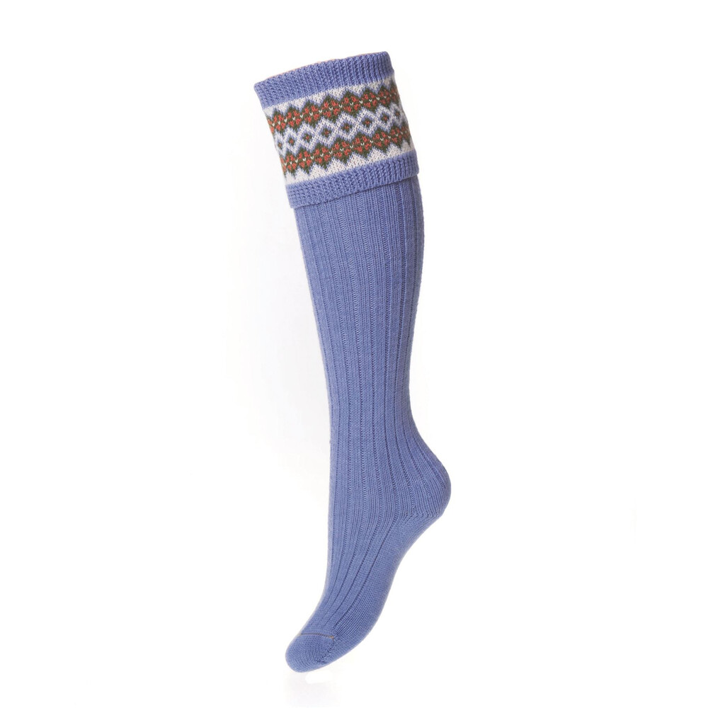 House of Cheviot Lady Fairisle Sock - Bluebell Bluebell