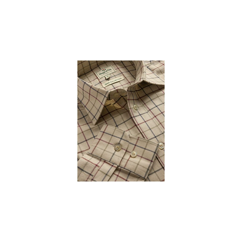 HOGGS OF FIFE Hoggs of Fife Chieftain Premier Tattersall Shirt - Lovat Check Multi