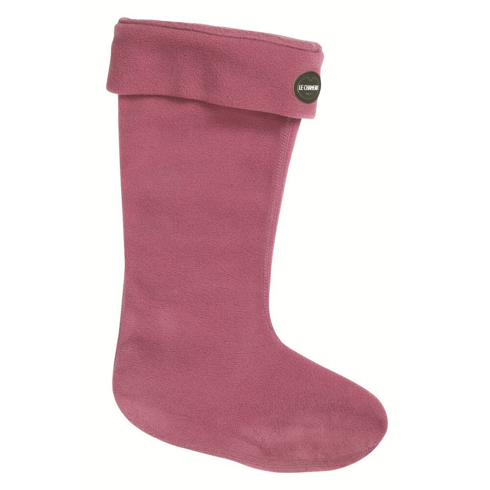 Le Chameau Iris Polaire Fleece Socks Pink