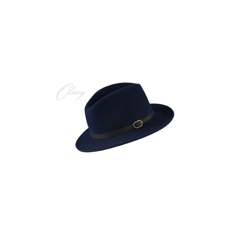 Olney Safari Soffelt Wool Felt Hat Navy