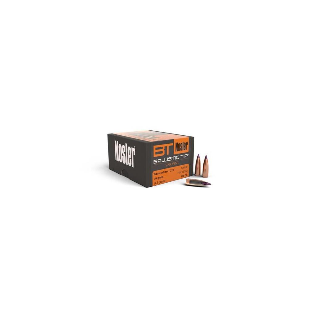 Nosler Ballistic Tip Varmint Bullets -  Cal - 70gr - x100 Unknown