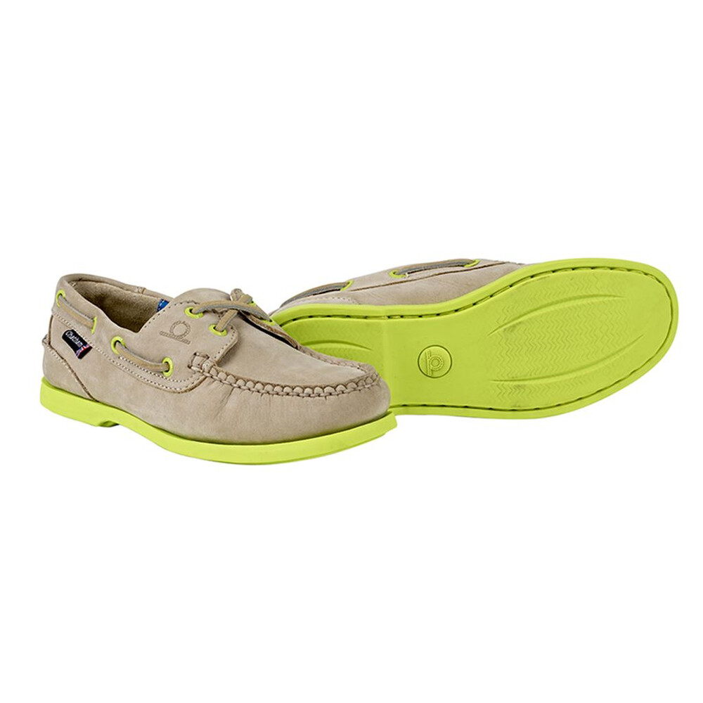 Chatham Pippa II G2 Leather Boat Shoe Stone/Neon
