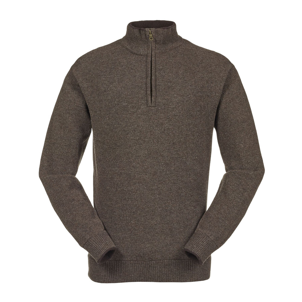 Musto Shooting Zip Neck Knit - Mulch