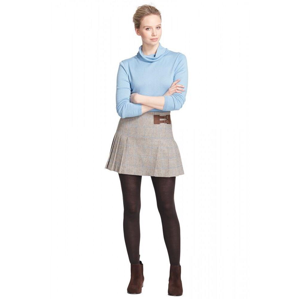 Dubarry Foxglove Pleated Tweed Skirt - Shale Shale Tweed