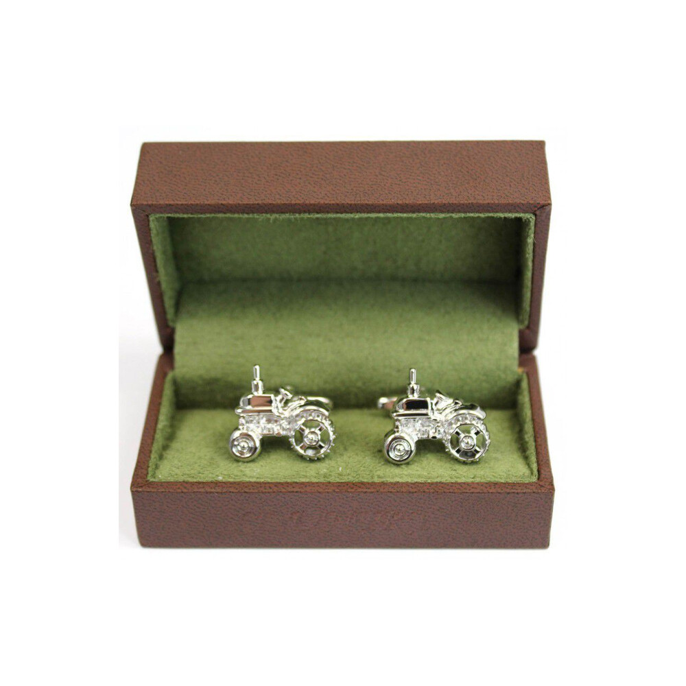 Soprano Country Cufflinks - Tractor Silver