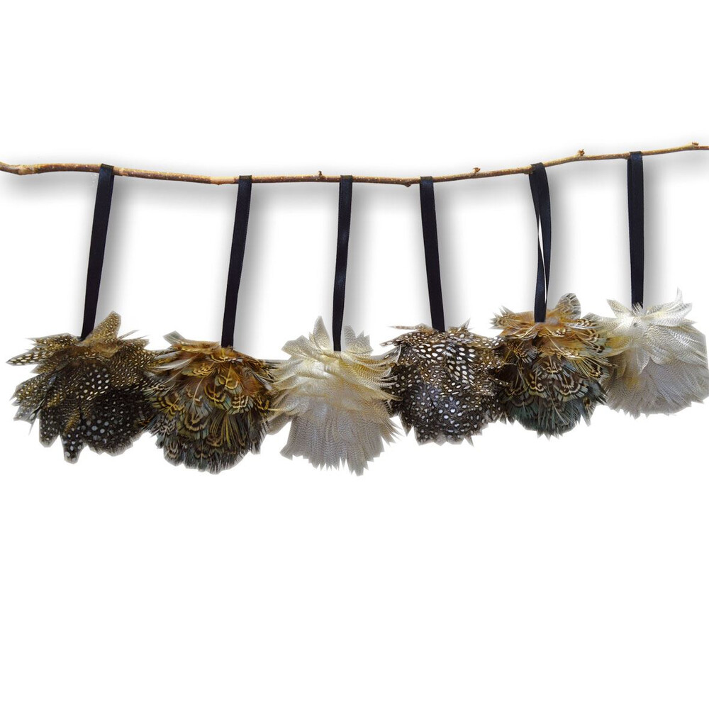 Wingfield Digby Wingfield Digby Feather Ball Decorations - x6