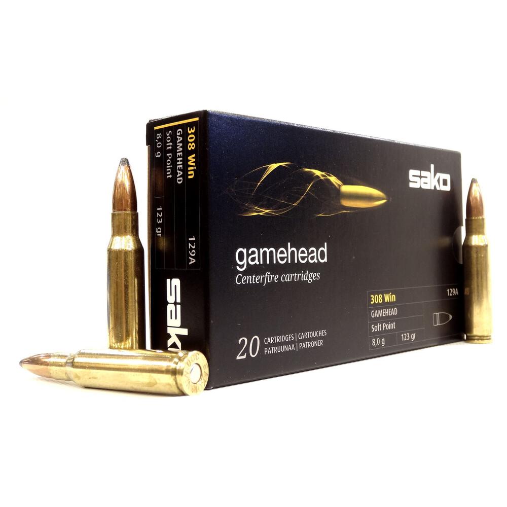 Sako .308 Ammunition - 123gr Gamehead