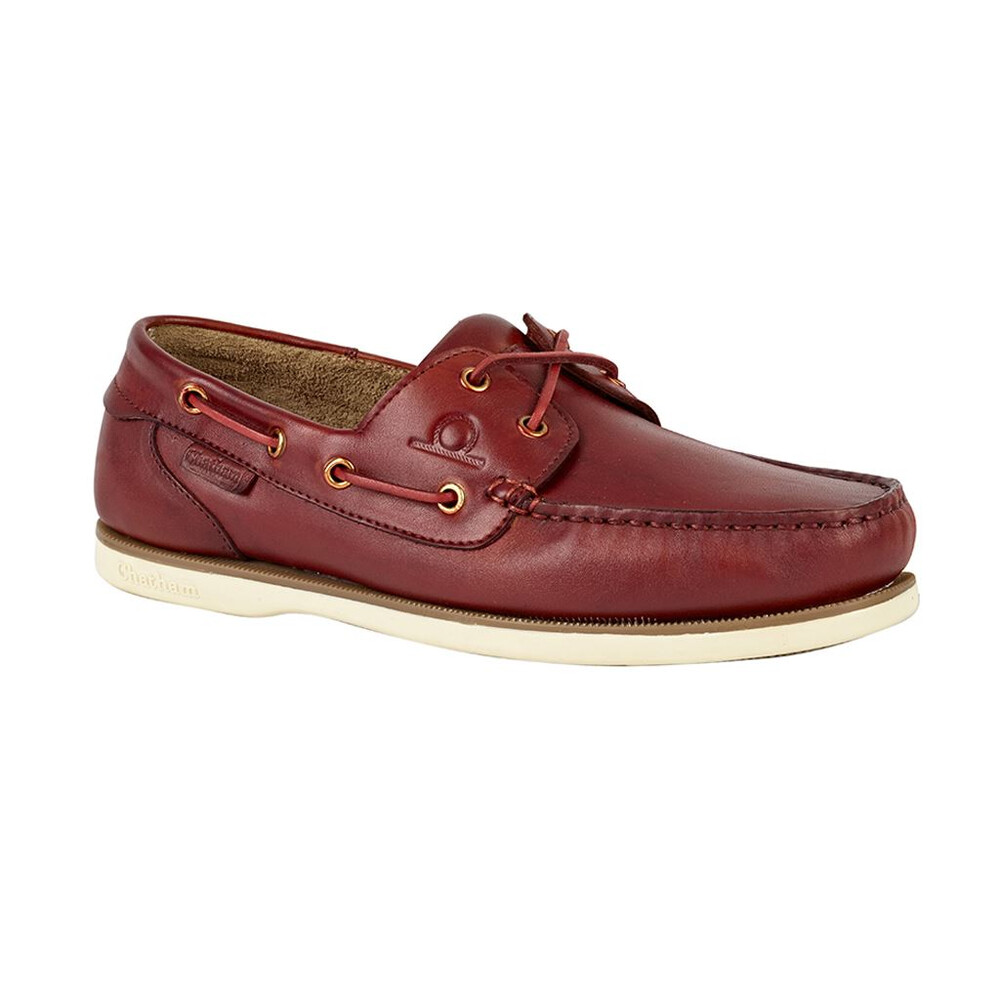 Chatham Newton Boat Shoe Red Brown