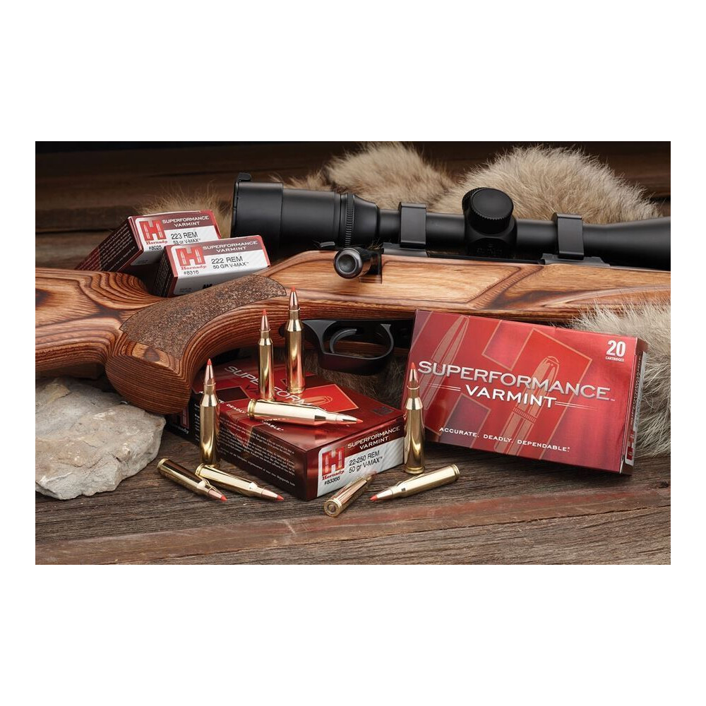 Hornady .222 Ammunition- 50gr - Superformance Varmint V-Max Unknown