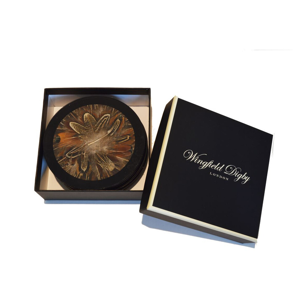 Wingfield Digby Wingfield Digby Coasters - Cock Pheasant Feather - x6
