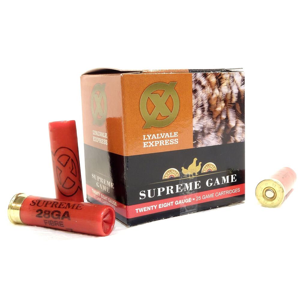 Lyalvale Express 28 Gauge Supreme Game - 21g - 6 - Fibre - 25