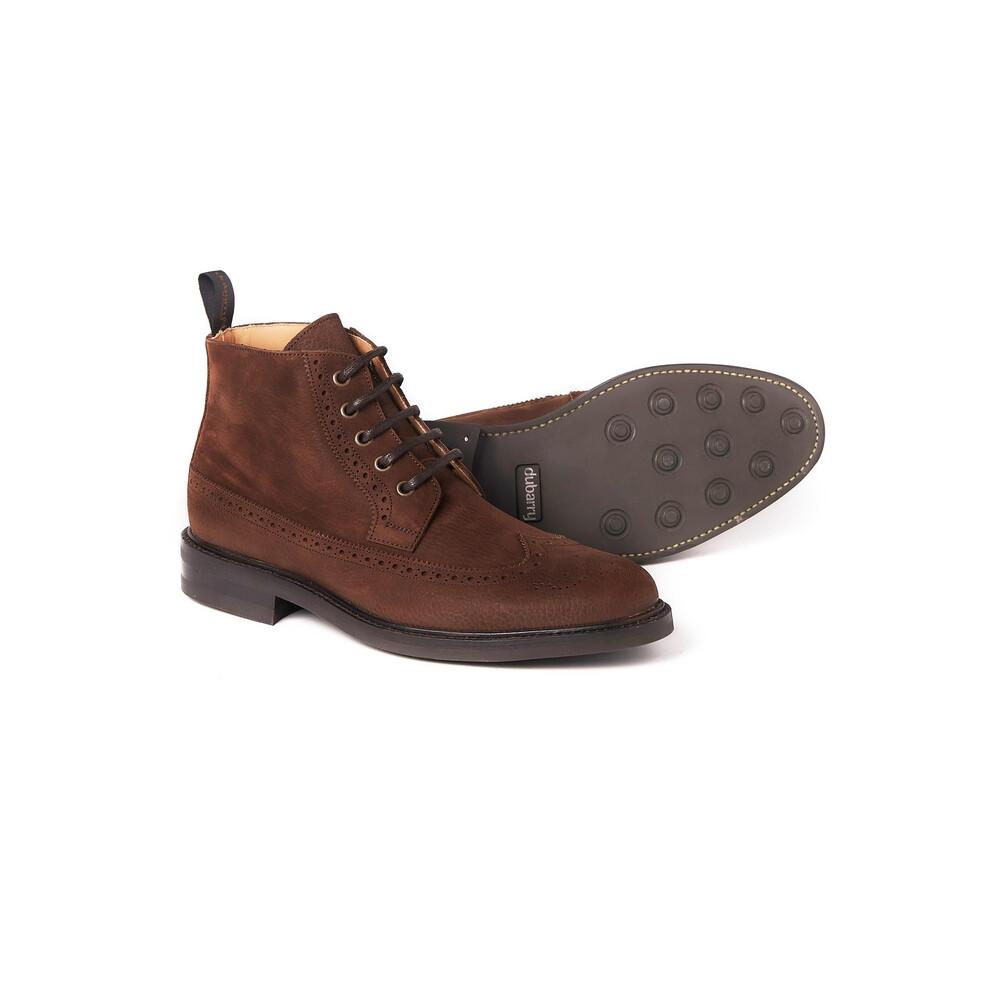 Dubarry Down Brogue Lace Boot - Walnut Walnut