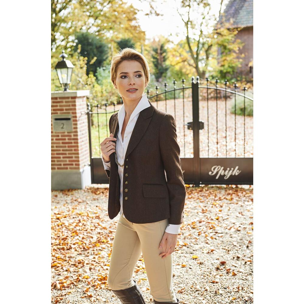 Anna Lascata Virginia Jacket - Herringbone Tweed Chocolate