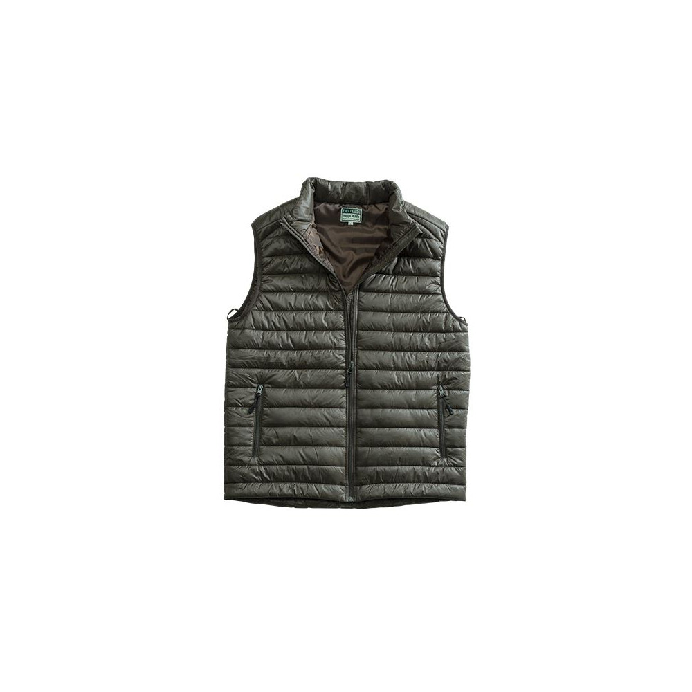 HOGGS OF FIFE Hoggs of Fife Craigmore Quilted Gilet - Dark Khaki