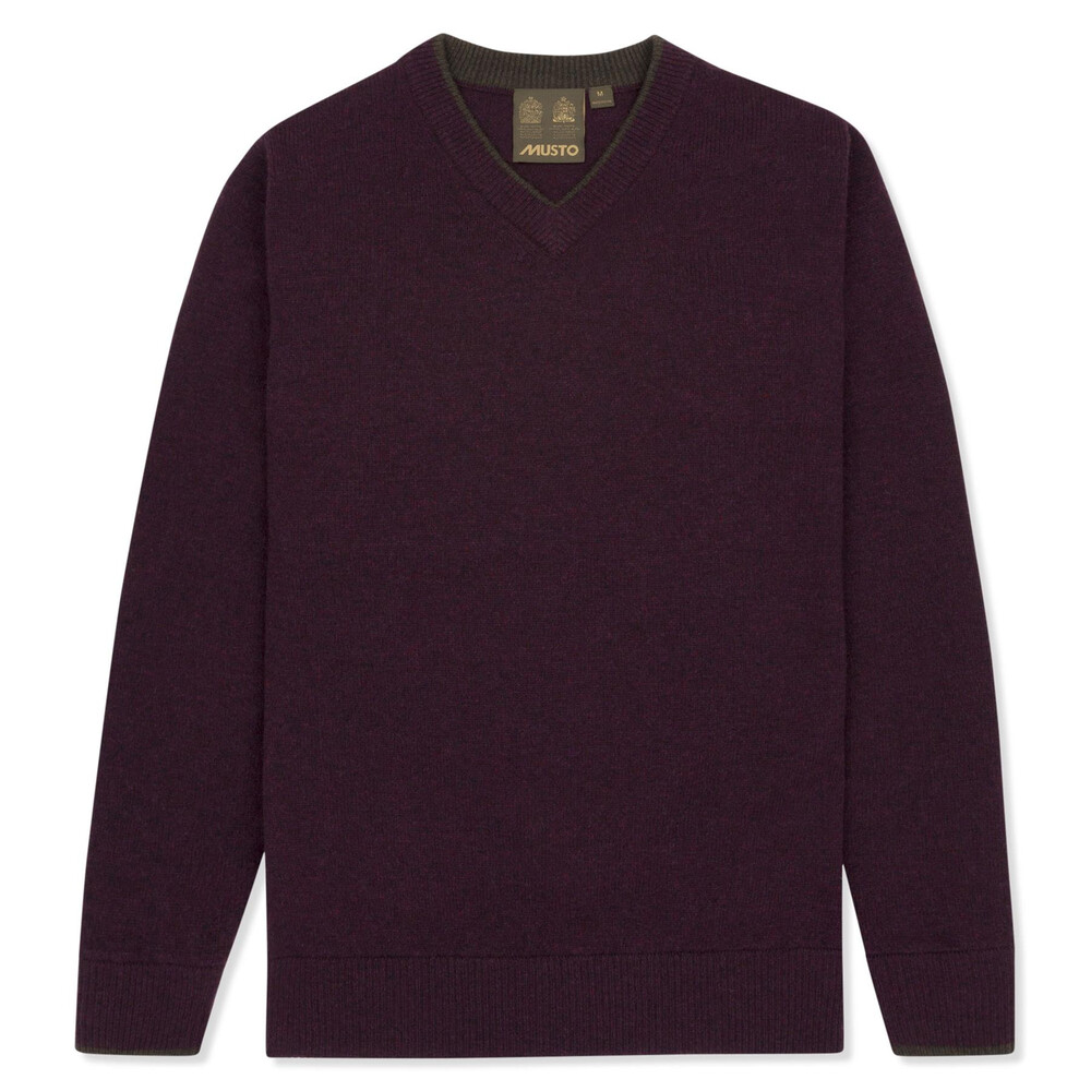 Musto Shooting V-Neck Knit - Damson