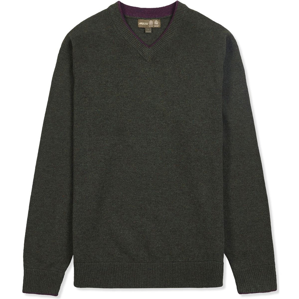 Musto Shooting V-Neck Knit - Rifle