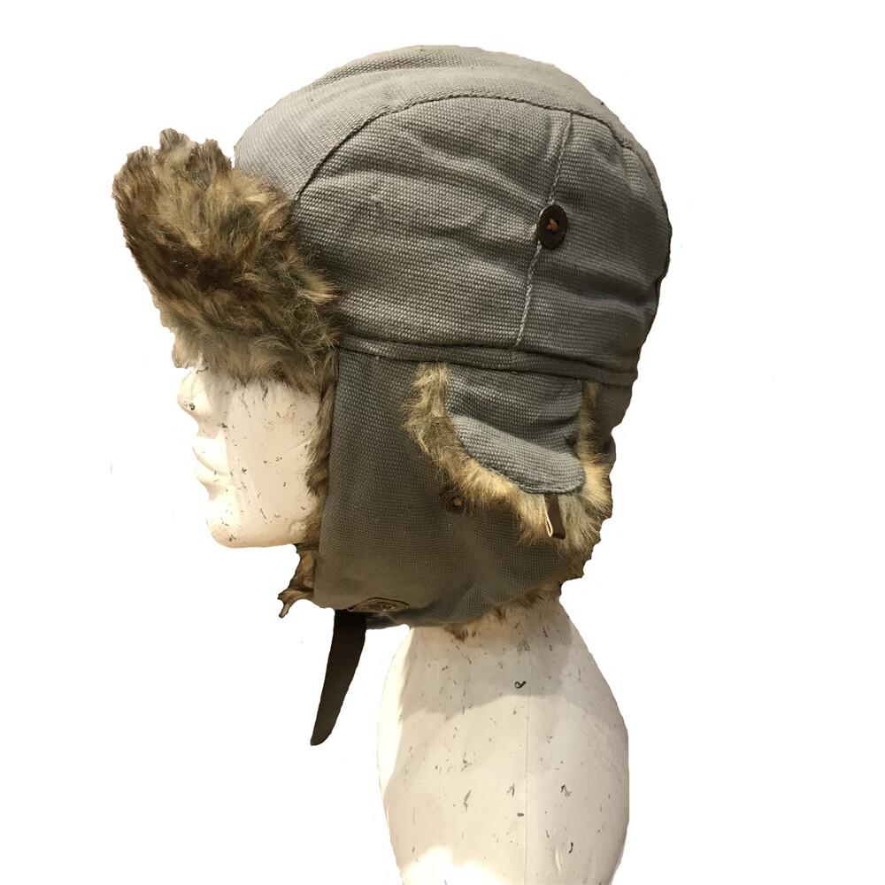 Unknown Kurt Canvas Trapper Hat Grey
